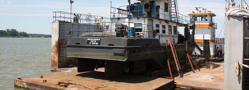 towboat-on-drydock-for-repair
